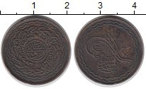 Изображение Монеты Индия Хайдарабад 2 пайя 1904 Медь XF