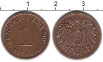Изображение Монеты Европа Германия 1 пфенниг 1909 Бронза XF
