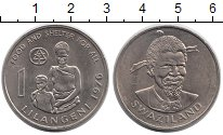 Изображение Монеты Африка Свазиленд 1 лилангени 1976 Медно-никель UNC-