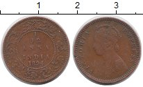 Изображение Монеты Азия Индия 1/12 анны 1894 Медь VF