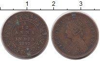 Изображение Монеты Азия Индия 1/12 анны 1897 Медь XF