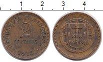 Изображение Монеты Европа Португалия 2 сентаво 1918 Бронза XF