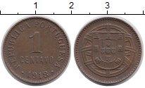 Изображение Монеты Европа Португалия 1 сентаво 1918 Бронза XF