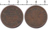 Изображение Монеты Индия 1/4 анны 1874 Медь VF