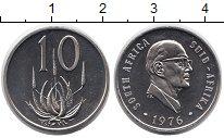 Изображение Монеты ЮАР 10 центов 1976 Медно-никель UNC