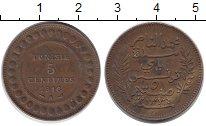 Изображение Монеты Тунис 5 сантим 1916 Бронза VF