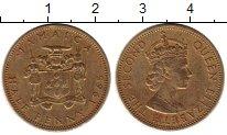 Изображение Монеты Северная Америка Ямайка 1/2 пенни 1965 Латунь XF