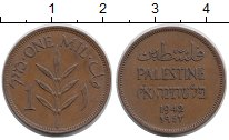 Изображение Монеты Азия Палестина 1 мил 1942 Бронза XF