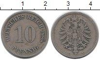 Изображение Монеты Германия 10 пфеннигов 1888 Медно-никель XF A