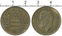 Изображение Монеты Европа Монако 20 франков 1950 Латунь XF