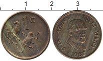 Изображение Монеты ЮАР 1 цент 1982 Бронза UNC-