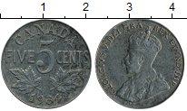 Изображение Монеты Северная Америка Канада 5 центов 1934 Медно-никель XF