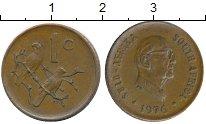 Изображение Монеты ЮАР 1 цент 1976 Бронза XF