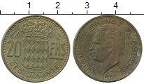 Изображение Монеты Монако 20 франков 1950 Латунь XF Раньер III