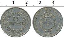 Изображение Монеты Коста-Рика 25 сентим 1948 Медно-никель XF