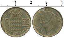 Изображение Монеты Европа Монако 10 франков 1951 Латунь XF