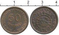 Изображение Монеты Африка Ангола 50 сентаво 1953 Бронза XF