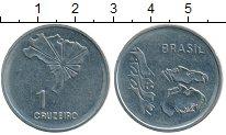 Изображение Монеты Южная Америка Бразилия 1 крузейро 1972 Медно-никель XF