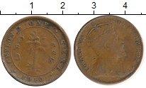 Изображение Монеты Цейлон 1 цент 1910 Бронза VF Эдуард VII