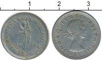 Изображение Монеты Великобритания Родезия 3 пенса 1962 Медно-никель XF