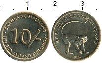 Изображение Монеты Сомали Сомалиленд 10 шиллингов 2002 Латунь UNC