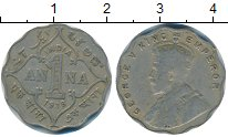Изображение Монеты Индия 1 анна 1918 Медно-никель XF