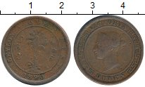 Изображение Монеты Цейлон 1 цент 1890 Медь VF