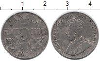 Изображение Монеты Канада 5 центов 1930 Медно-никель XF