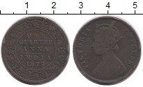 Изображение Монеты Индия 1/4 анны 1879 Медь VF