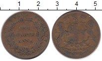Изображение Монеты Индия 1/4 анны 1858 Медь VF