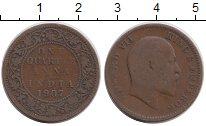 Изображение Монеты Индия 1/4 анны 1907 Бронза VF