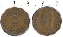 Изображение Монеты Африка Египет 5 миллим 1938 Бронза XF