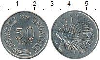 Изображение Монеты Азия Сингапур 50 центов 1974 Медно-никель UNC-