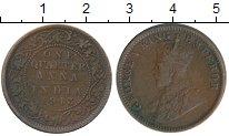 Изображение Монеты Индия 1/4 анны 1913 Бронза XF Георг V