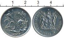Изображение Монеты ЮАР 20 центов 1974 Медно-никель XF