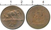 Изображение Монеты Африка ЮАР 2 цента 1974 Бронза XF