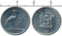 Изображение Монеты Африка ЮАР 5 центов 1974 Медно-никель XF