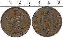 Изображение Монеты Европа Ирландия 1 пенни 1946 Бронза XF