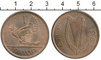 Изображение Монеты Ирландия 1 пенни 1965 Бронза XF