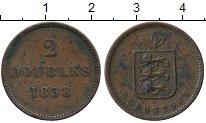 Изображение Монеты Великобритания Гернси 2 дубля 1858 Медь XF