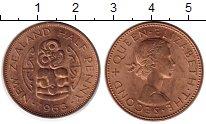 Изображение Монеты Австралия и Океания Новая Зеландия 1/2 пенни 1963 Бронза UNC-