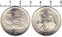 Изображение Монеты Европа Сан-Марино 500 лир 1974 Серебро UNC-