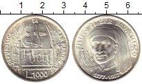 Изображение Монеты Европа Сан-Марино 1000 лир 1977 Серебро UNC-