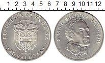 Изображение Монеты Северная Америка Панама 20 бальбоа 1972 Серебро UNC