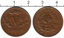 Изображение Монеты Южная Америка Колумбия 5 сентаво 1970 Бронза XF