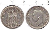 Изображение Монеты Великобритания 6 пенсов 1945 Серебро XF-