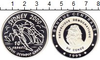 Изображение Монеты Африка Конго 10 франков 1999 Серебро Proof-