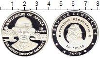 Изображение Монеты Африка Конго 10 франков 1999 Серебро Proof