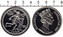 Изображение Монеты Гибралтар 1 крона 1995 Серебро Proof