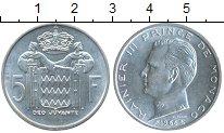 Изображение Монеты Монако 5 франков 1966 Серебро UNC-